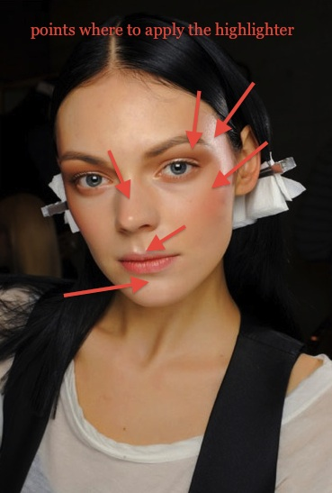 where and how to apply highlighter