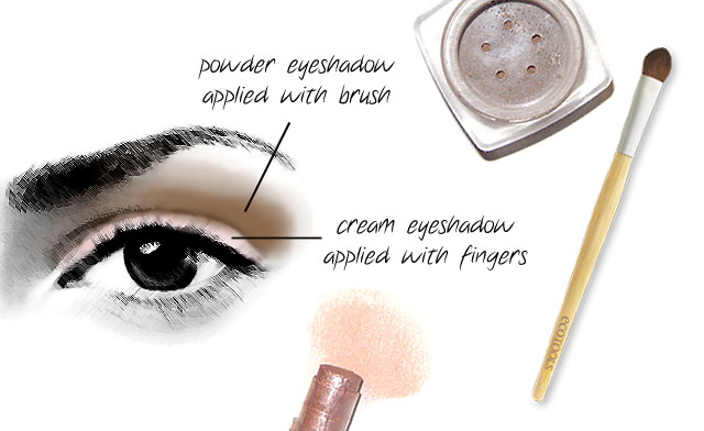 Natural make-up in nude tonalities
