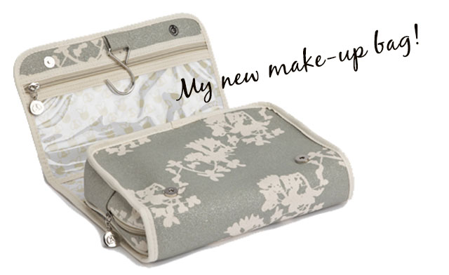 apple & bee make-up bag