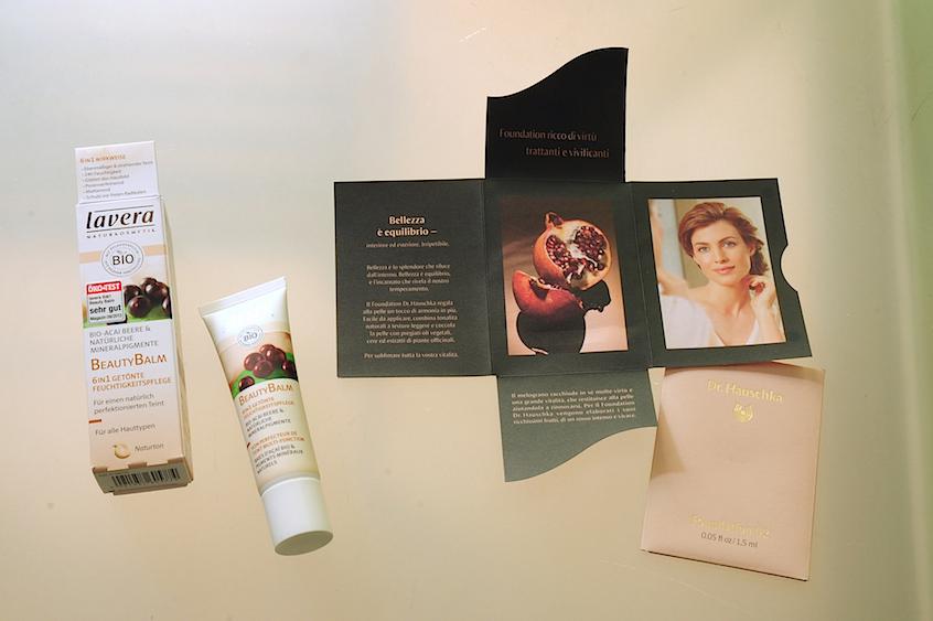 Lavera beauty balm, Dr. Hauschka liquid foundation