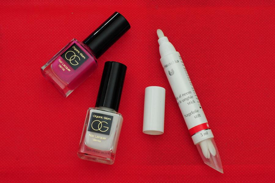 Organic glam nail polish, Dr.Hauschka Pen stick with neem oil
