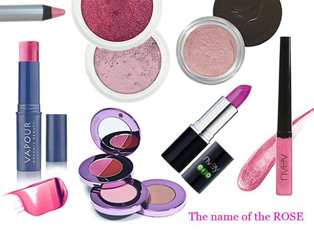 make-up in rose shades