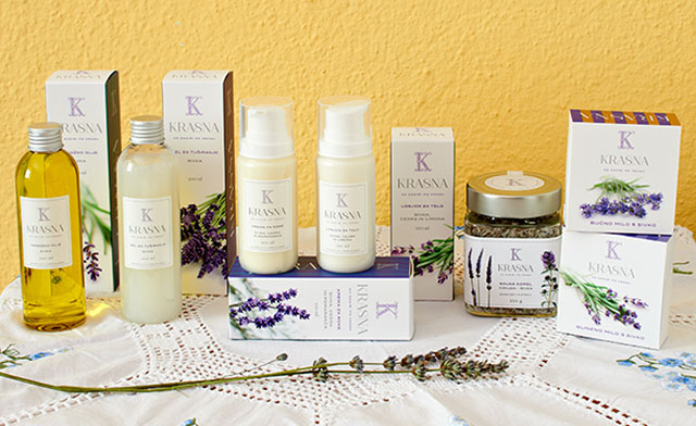 Krasna organic lavender body collection