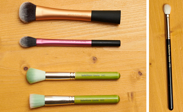 Bdellium Tools Green bambu, Maestro and Real techniques