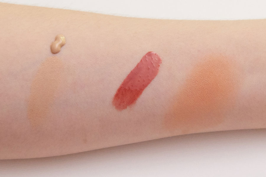 Lily lolo swatches and Caudalie swatches