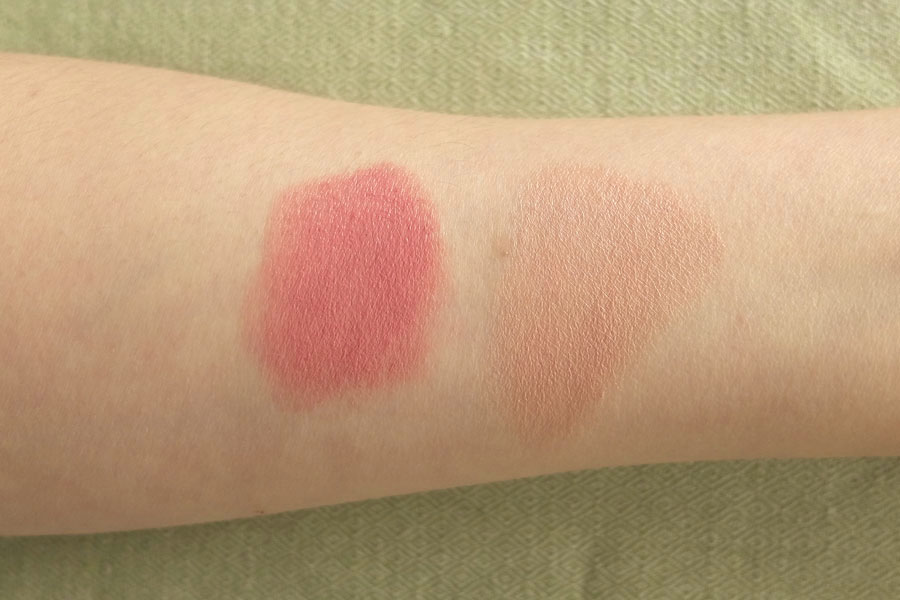 lily lolo lipstick and uoga uoga lip swatch