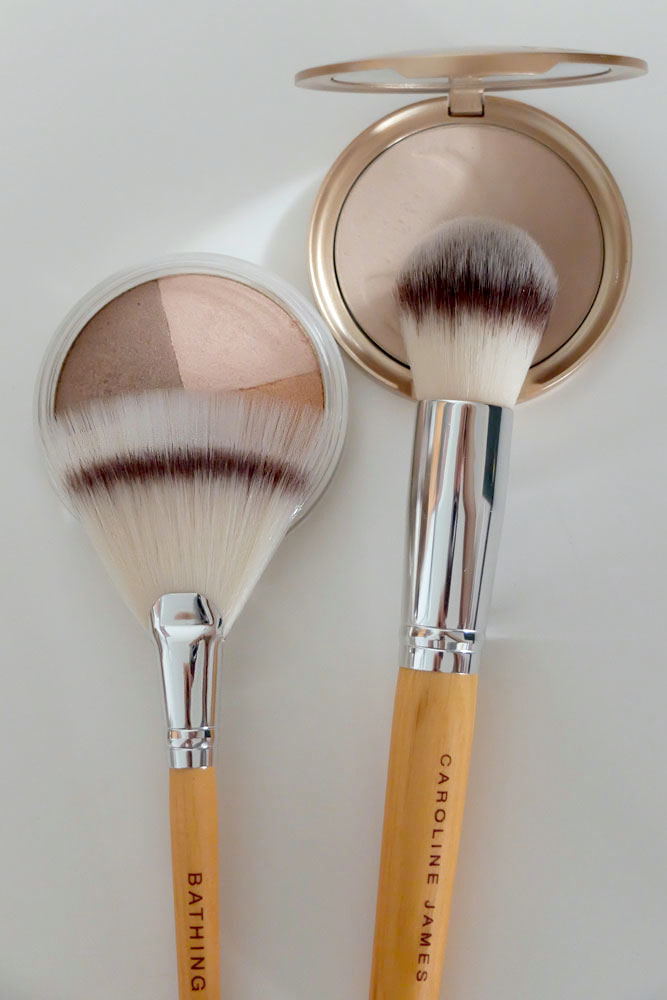 bathing beauty makeup brushes